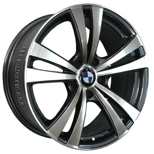 BMW B92mg 7.5x17 5x120 ET 20 Dia 72.6 GMF / Серый с полировкой