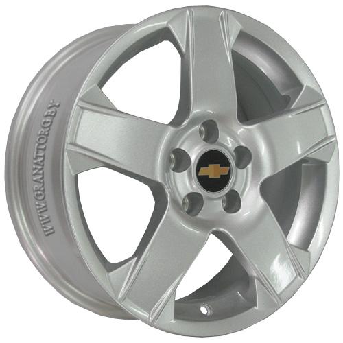 Chevrolet GN35 5.5x14 4x100 ET 39 Dia 56.6 Silver / Серебристый