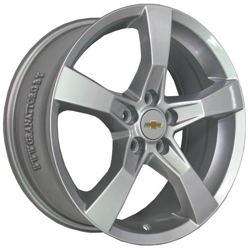 Chevrolet GN70 7x18 5x105 ET 42 Dia 56.6 S / Серебристый