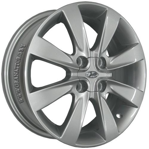 Hyundai HND74 6x16 4x100 ET 52 Dia 54.1 Silver / Серебристый
