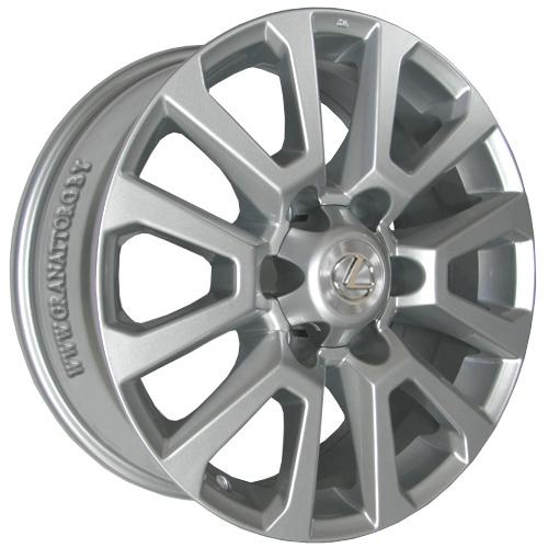 Lexus LX78 7.5x18 6x139.7 ET 25 Dia 106.2 Silver / Серебристый