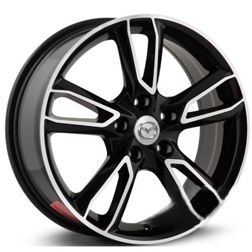 Mazda MZ73mb 7x17 5x114.3 ET 50 Dia 67.1 BKF / Черный с полировкой
