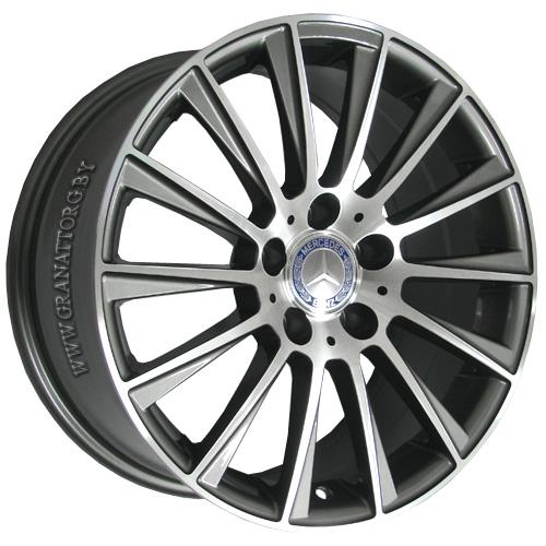 Mercedes MR139mg 8.5x18 5x112 ET 43 Dia 66.6 GMF / Серый с полировкой