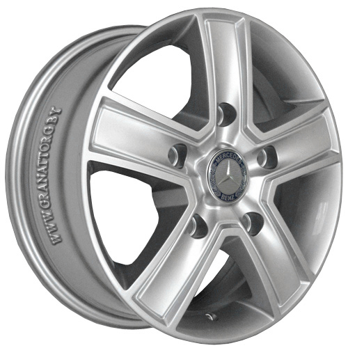Mercedes MR473 6.5x15 5x130 ET 50 Dia 84.1 Silver / Серебристый