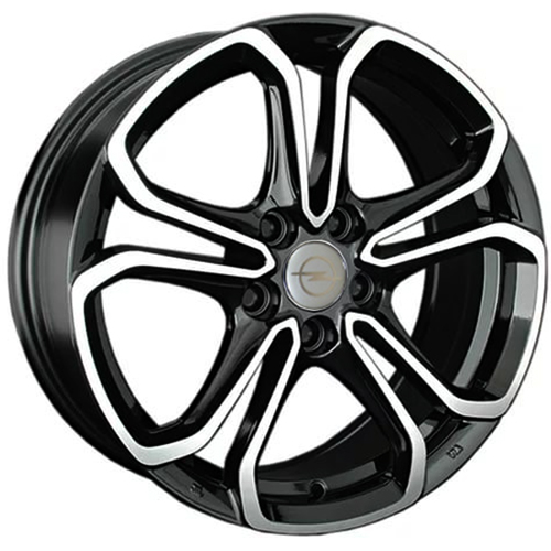 Opel OPL62mb 7x17 5x105 ET 42 Dia 56.6 BKF / Черный с полировкой