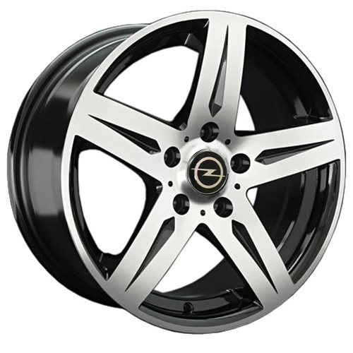 Opel OPL70mb 6.5x15 5x110 ET 35 Dia 65.1 BKF / Черный с полировкой