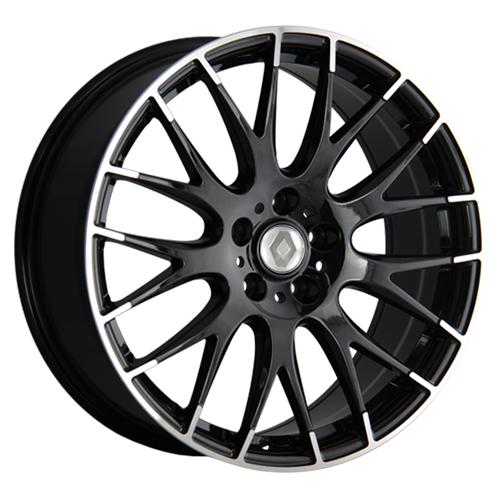 Renault Concept-RN529-mb 6.5x16 5x114.3 ET 50 Dia 66.1 BKF / Черный с полировкой