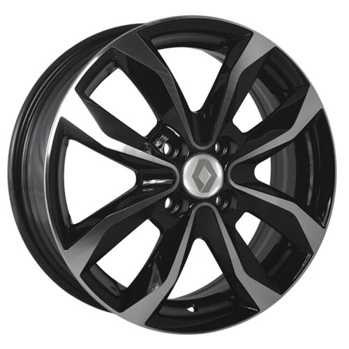 Renault RN92mb 6x15 4x100 ET 50 Dia 60.1 BKF / Черный с полировкой