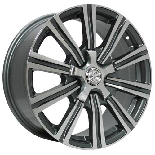 Toyota TY242mg 8x18 5x150 ET 60 Dia 110.1 GMF / Серый с полировкой