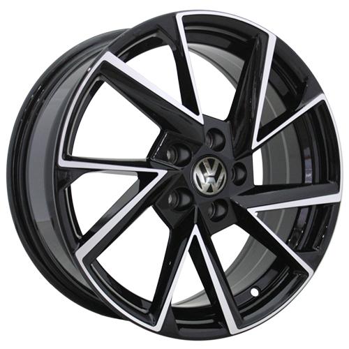 Volkswagen VV12-S-mb 6.5x16 5x100 ET 35 Dia 57.1 BKF / Черный с полировкой