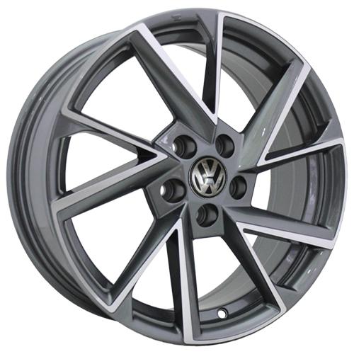 Volkswagen VV12-S-mg 6x15 5x100 ET 38 Dia 57.1 GMF / Серый с полировкой