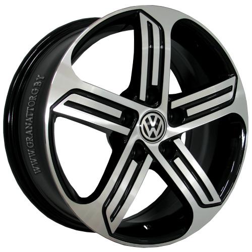 Volkswagen VV177mb 6.5x16 5x112 ET 42 Dia 57.1 BKF / Черный с полировкой
